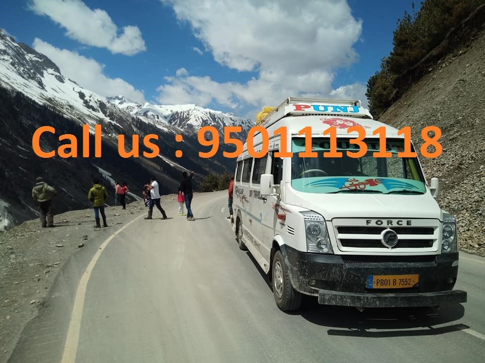 chandigarh to leh tempo traveller